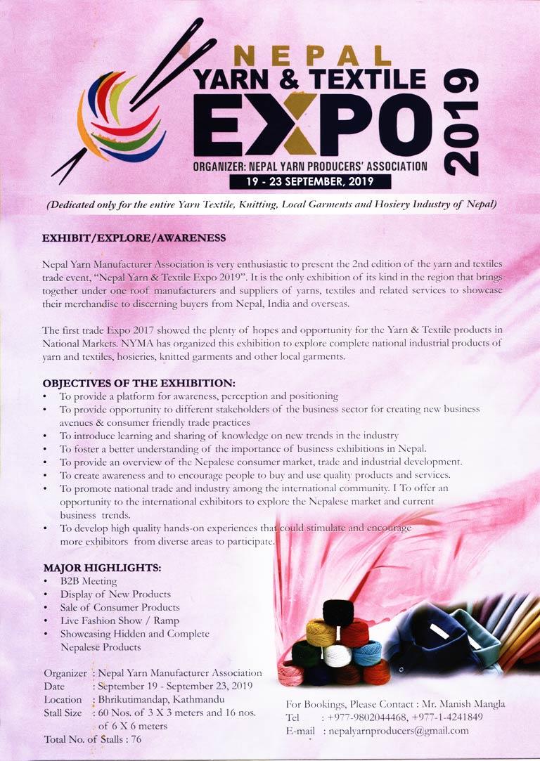 Nepal Yarn & Textile Expo 2019