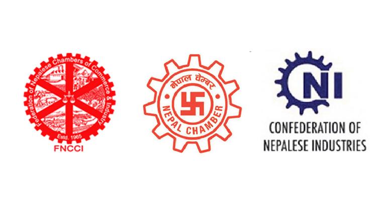 संयमतापूर्वक निर्णय लिन मुलुकका प्रमुख राजनीतिक दलहरू समक्ष - नेपाल उद्योग वाणिज्य महासंघ, नेपाल चेम्वर अफ कमर्स र नेपाल उद्योग परिसंघको संयुक्त अपिल (२०७७/०९/०८)