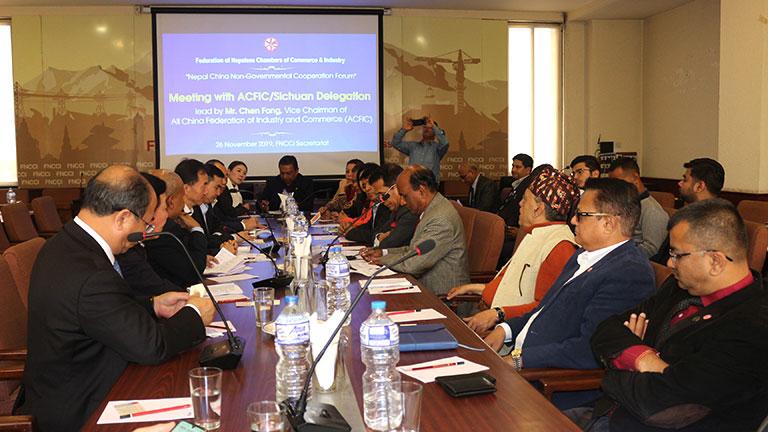नेपाल-चीन गैह्र सरकारी सहयोग मंचको तयारी बैठक काठमाडौंमा सम्पन्नः मंचको आगामी १५ औं बैठक सेप्टेम्वर अन्तिम साता सिचुवानमा गर्ने सहमती (२०७६/०८/१०)