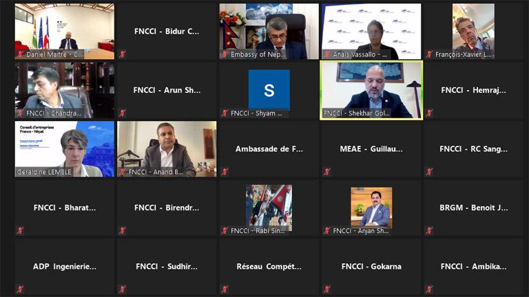 नेपाल फ्रान्स व्यवसायिक मंचको बैठक सम्पन्न – विदेशी लगानीकर्तालाई पर्याप्त अवसरः अध्यक्ष गोल्छा (२०७८/३/२४)