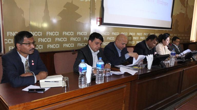 नयाँ सरकारलाई नेउवामहासंघको बधाई - सरकारले ल्याउने आर्थिक विकासका कार्यक्रमलाई सफल पार्ने निजी क्षेत्रको प्रतिबद्धता (२०७४/११/०६)