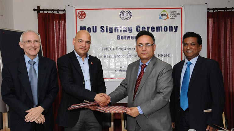 MoU Signing Ceremony between FNCCI-EC & HRSN