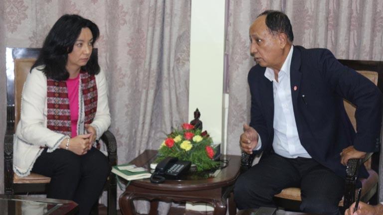 Meeting with Ms. Sanchir Tugschimeg, Senior Advisor, ILO/ACT/EMP at FNCCI