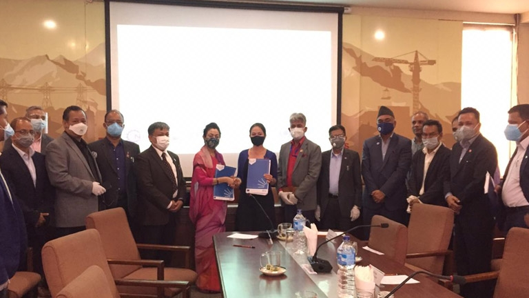 Grant Agreement Signing  between The British Council and  FNCCI for  Implementation of ELMS Project
