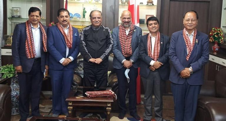 Meeting with Past Prime Minister Pushpa Kamal Dahal Prachanda