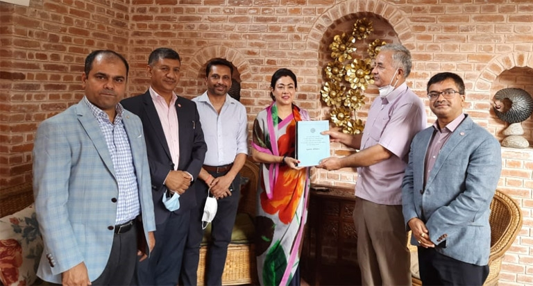 Report handover to FNCCI President by FNCCI AGM and Election Modality Committee