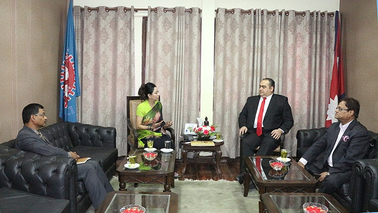 Meeting with His Excellency  Ambassador of Romania to Nepal & India