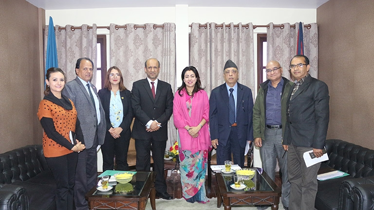 Meeting with the Ambassador of United Arab Emerates to Nepal