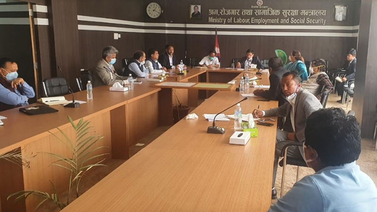 Meeting at Ministry of Labour, Employment and Social Security