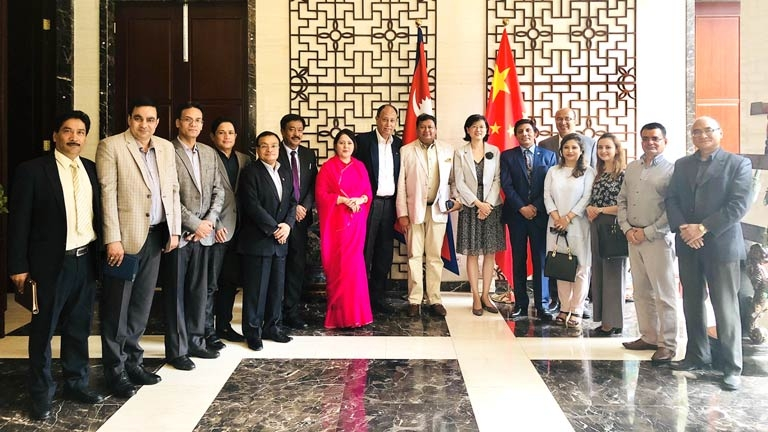 FNCCI - SAARC CCI Nepal Delegation meeting with H.E. Chinese Ambassador