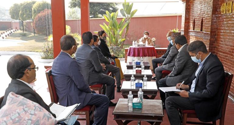 Meeting with Right Honorable President Mrs. Bidya Devi Bhadari